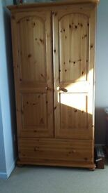 Solid Pine Wardrobe, Chest of Drawers and Bedside Cabinets