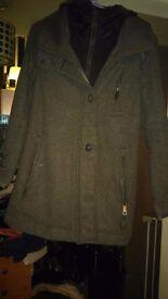 Ladies/older girl grey superdry coat worn once