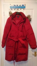 Lands end Goose down Feather Coat Jacket M L fitting 14 16 BNWT Super Warm