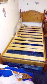 Pine single bed free