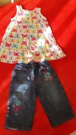 Baby 6-9 Months Girl Jeans and Dress