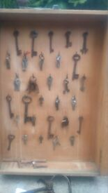 glass cabinet vintage key item from a large old house