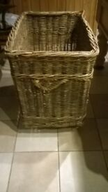 wicker basket make great log store