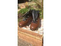 """Men's NEW / Vintage """"Toetectors"""" size 8 steel cap safety work boots"""