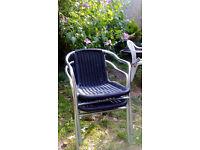 2 Rattan Garden Chairs
