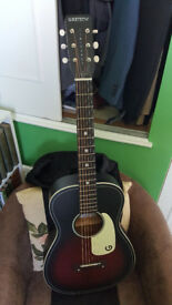 **Reduced** - Gretsch Jim Dandy G9500 Acoustic Flat Top Parlour Guitar and Gator Case