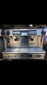 2 group large coffee machine