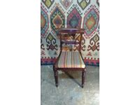 Antique bar back chair circa 1840 just upholstered in handmade kilim kilim furniture surrey unique