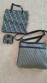 genuine dkny cross body bag and handbag and and 2 purses