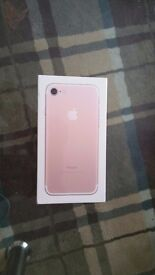 iPhone 7 Pink 32G unboxed, sealed and sim free. 450 GBP ONO.