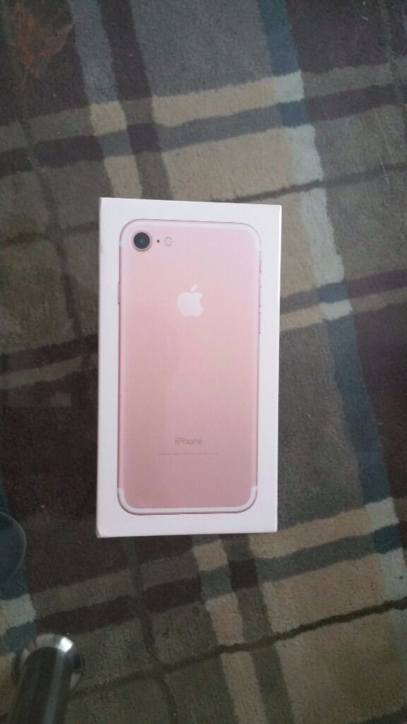 iPhone 7 Pink 32G unboxed, sealed and sim free. 450 GBP ONOin Sheffield, South YorkshireGumtree - iPhone 7 Pink 32G unboxed, sealed and sim free Product Information This iPhone 7 is a factory unlocked Apple smartphone with pink finish and iOS 10 for effortless usage. With its entire casing re engineered, it is water‑resistant thus protected...