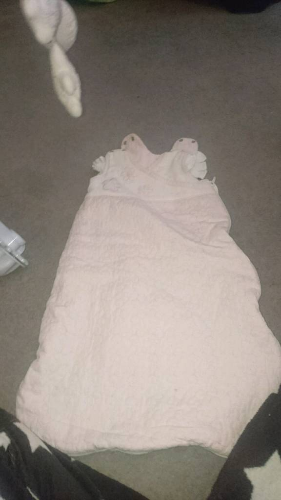 Silvercross cot mobile and sleeping bagin Southside, GlasgowGumtree - Pink silvercross cot mobile and sleeping bag 0 6 months. Good clean condition pet and smoke free home