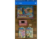 Childrens educational learning Vtech Mobigo in Pink boxed with 3 Disney games