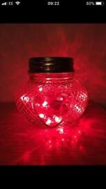 Upcycled love hart jar