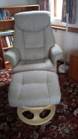 Ultimate Comfort Recliner and Footstool