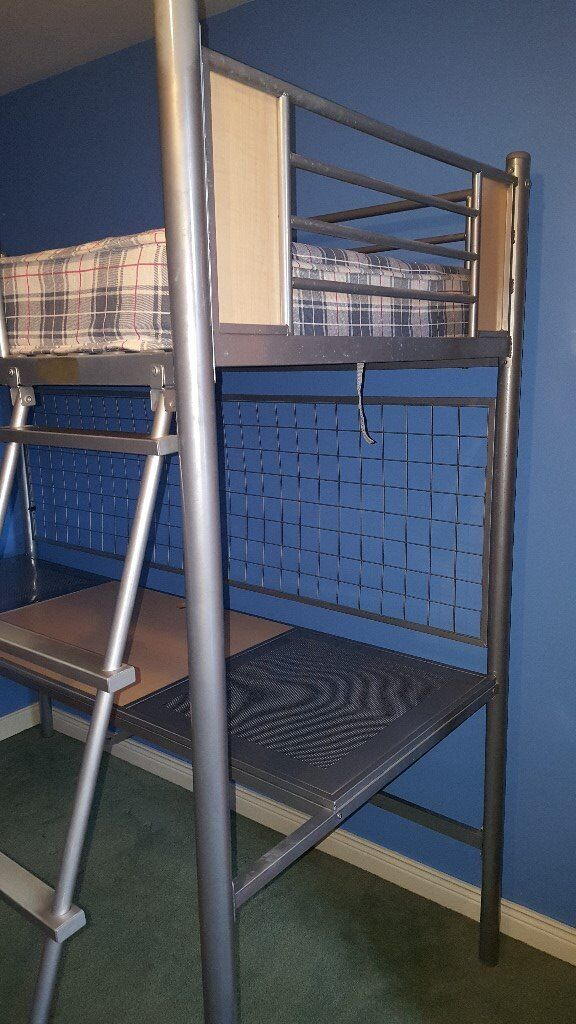 Bunk bed and desk/workstationin Limavady, County LondonderryGumtree - Bunk bed for sale, in great condition from a smoke free home. Comes with mattress and ladder. Bottom section is a desk/work station with chair included. easily assembled and dismantled