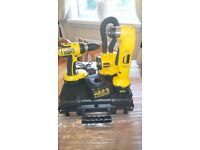 Dewalt tool set, consist of 18v drill/12v angle drill/torch/batts,and charger, see photos & details