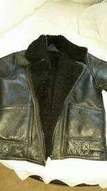 Leather sheepskin jacket size 12/14 ladies