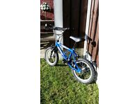 "Boys 14 "" bike bmx in very good condition can deliver for a small charge"