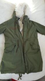 Topshop khaki coat