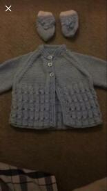 Beautiful blue baby cardigans