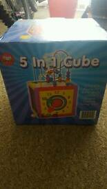 Wooden 5 in 1 cube toy