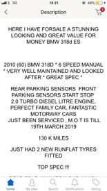 Bmw 318d ES business edition