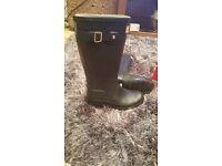 Hunter wellington boots size 1