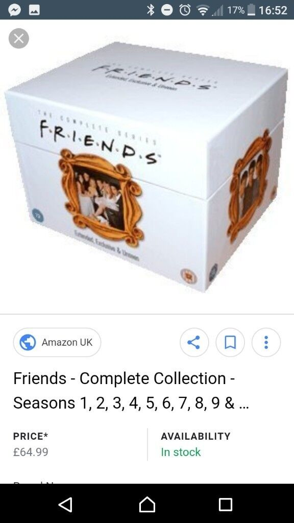 Friends complete series 1-10 box set extended with episode guide ...