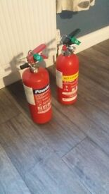 2 Fire extinguishers for sale