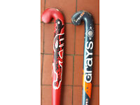 "HOCKEY STICKS "" GRAYS "" TWO IN GOOD CONDITION"