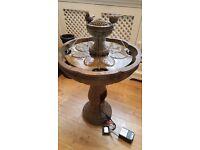 Bernini Riviera 2 Tier All Weather Dancing Water Fountain colour - bronze stone