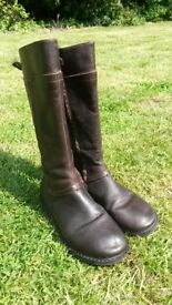 Girl's Brown Leather Boots