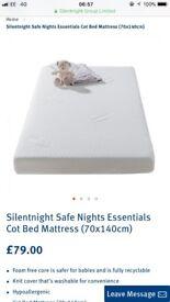 Silent night safe essentials cot bed mattress