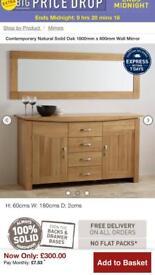 Oak furniture land Oak mirror