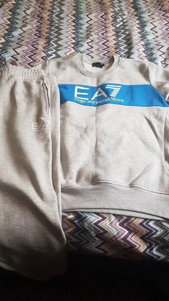 Brand New Men's Ea7 Full Tracksuit