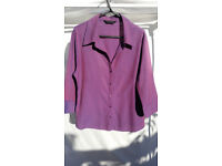 Dorothy Perkins Two-Tone Violet & Purple Ladies Blouse