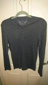 Mens ribbed long-sleeved tops in dark colour x 3