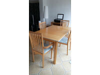 Table & 4 Chairs - Priced for Quick Sale or Offers