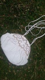 Bracciallini White Leather Handbag