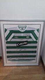 Signed and framed celtic top
