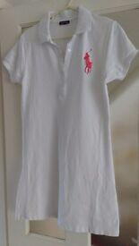 Ralph Lauren white jersey dress