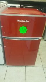 MONTPELLIER mab2030r RED Undercounter Fridge Freezer with WARRANTY | RRP £179