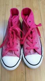 Girl's Pink Converse UK size 13.5