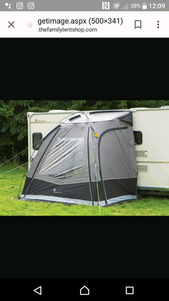 Caravan porch awning used once   in Waddington ...