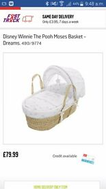 Moses basket whinnie the pooh