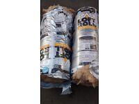Two rolls good quality loft insulation