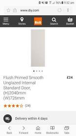 New internal door smooth unglazed