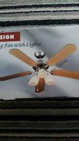 Light with fan