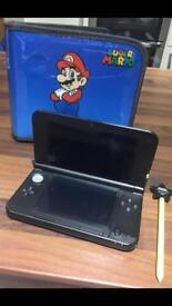 Silver Nintendo 3DS XL and Accessories